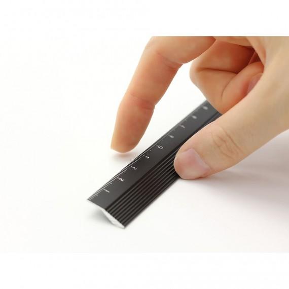 Règle MIDORI aluminium - 30 cm - Noir