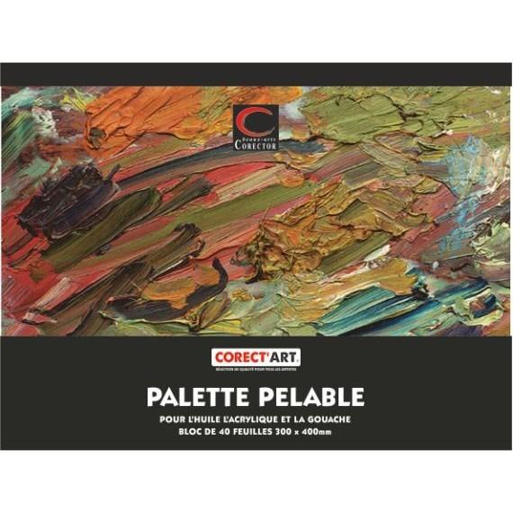 Palette papier pelable CORECT'ART - F:23 x 27 cm (40 F)