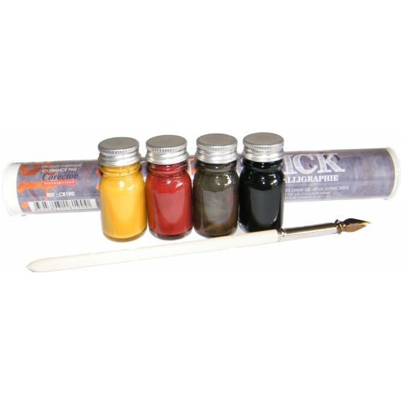 Set encre CORECTOR Calli-Stick - 4 Encres calligraphie - CR190
