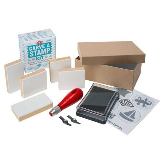 Boite linogravure ESSDEE - 4 plaques + accessoires (Carton)