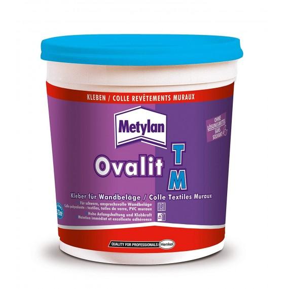 Colle Ovalit TM METYLAN - Pour textile muraux  (Acétate de polyvinyle en dispersion aqueuse) - 750 g