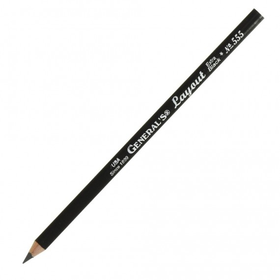 Crayon graphite LAYOUT 555 - Extra noir