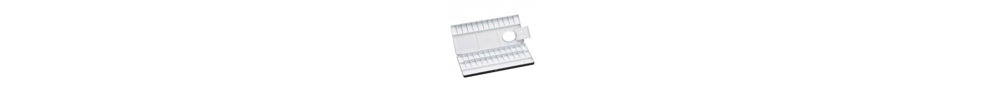 Palette aluminium HOLBEIN - 1130-20 - Pour aquarelle - F: 19.5 x 7.5 cm (Pliante)