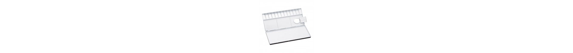 Palette aluminium HOLBEIN - 1130-40 - Pour aquarelle - F: 24.5 x 10.5 cm (Pliante)