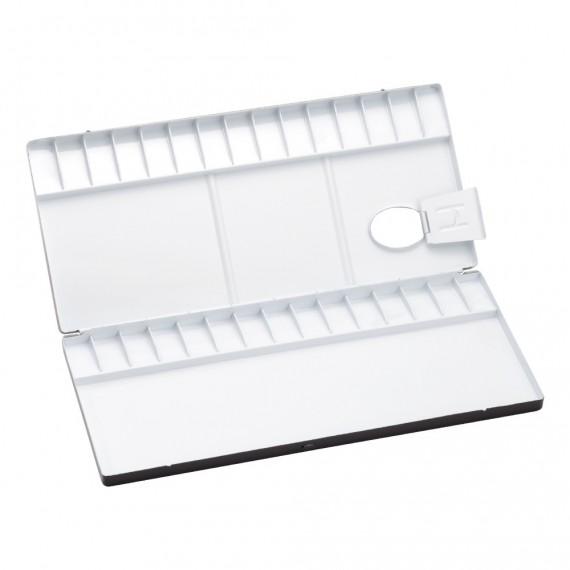Palette aluminium HOLBEIN - 1130-150 - Pour aquarelle - F: 29.5 x 13 cm (Pliante)