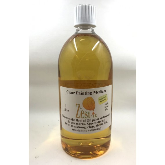 Médium huile ZEST-IT - Clear painting médium - Flacon: 1 Litre