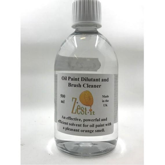 Diluant ZEST-IT - Pour Huile et  nettoyant pour brosse - Flacon:500 ml