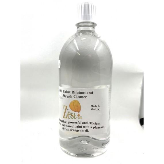 Diluant ZEST-IT - Pour Huile et  nettoyant pour brosse - Flacon:1 Litre