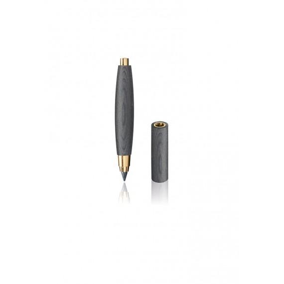 Porte-mine E+M Sketch - Zebrano - Bois noir - 5.5 mm - Nickel