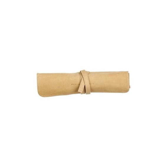 Trousse en cuir CLAIREFONTAINE - L:26.7  x H:20.5 cm - Pour crayons - Beige