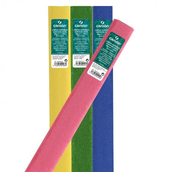 Rouleau papier crepon CANSON Papier de couleur - 32gr - F:0.50 x 250 m -  Bleu exotique N.57