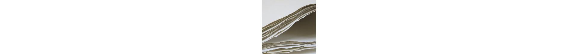 Papier du monde KHADI Indien R23 W ROUGH - 400g - F:100 x 140 cm
