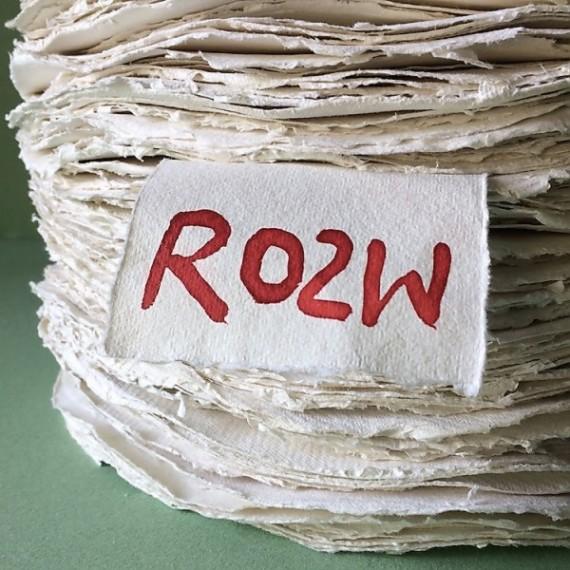 Papier du monde KHADI Rond RO2 W - 320g - Diamètre: 56 cm - Rough