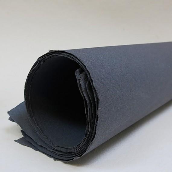 Papier du monde KHADI R1.. Papier Indien 210g - F:56 x 76 cm - G.torchon - Gris foncé