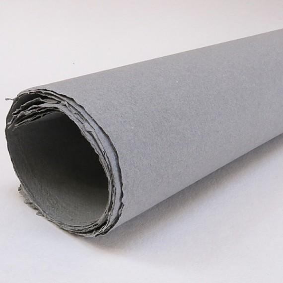 Papier du monde KHADI R1.. Papier Indien 210g - F:56 x 76 cm - G.torchon - Gris clair