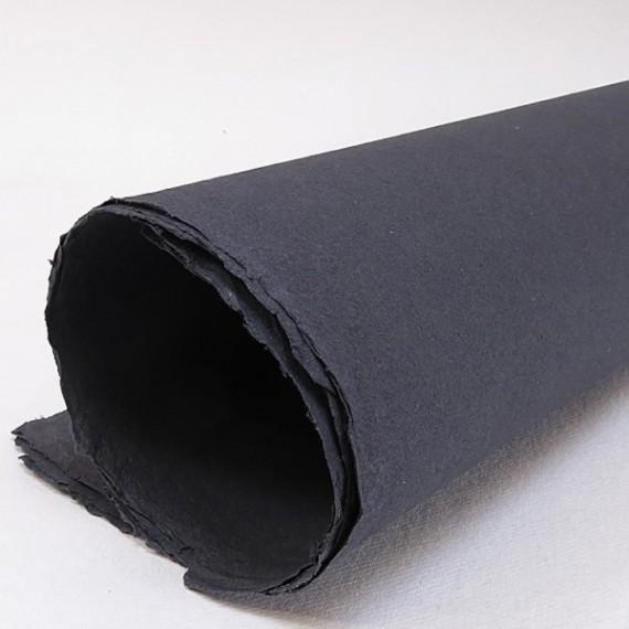 Papier du monde KHADI R1.. Papier Indien 210g - F:56 x 76 cm - G.torchon - Noir