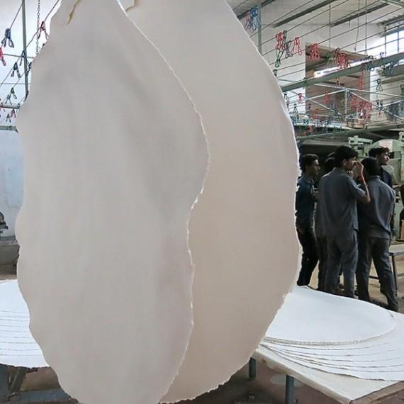 Papier du monde KHADI Rond - Pur chiffon - 400g - Diamètre: 110 cm