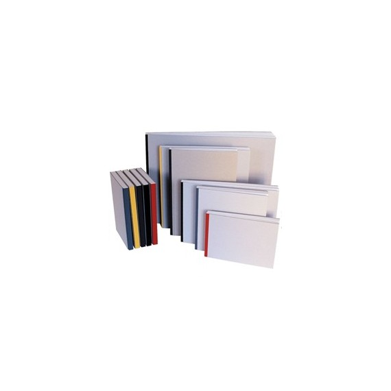 Album dessin CDQV - 100g (72f) - F:21 x 29,7 cm - Couverture grise - Lot de 5 couleurs