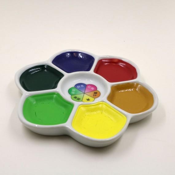 Boite palette marguerite aquarelle Japonaise - Color palette (Boite) - 6 couleurs