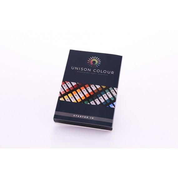 Boite pastel tendre UNISON - 18 Pastels assortis - Starter (Carton)