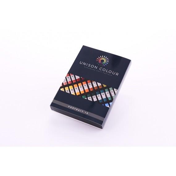 Boite pastel tendre UNISON - 18 Pastels assortis - Portrait (Carton)