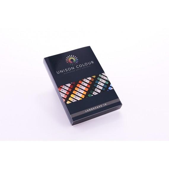 Boite pastel tendre UNISON - 18 Pastels assortis - Landscape (Carton)