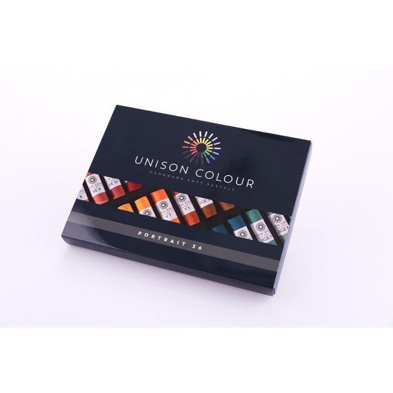 Boite pastel tendre UNISON - 36 Pastels assortis - Portrait (Carton)