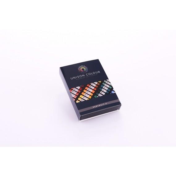 Boite pastel tendre UNISON - 8 Pastels - Portrait (Carton)