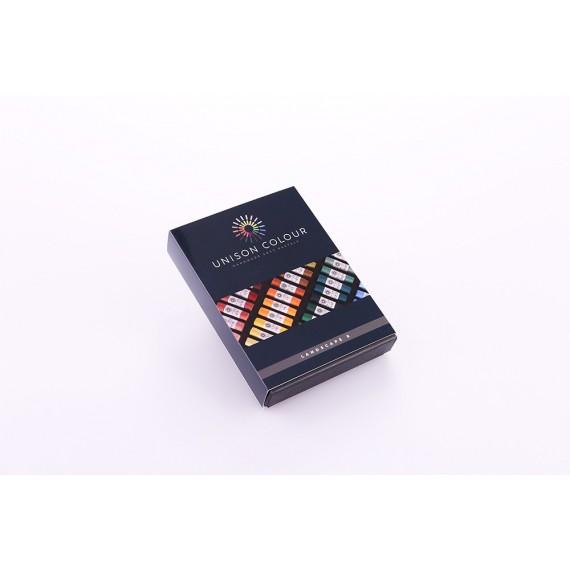 Boite pastel tendre UNISON - 8 Pastels - Landscape (Carton)