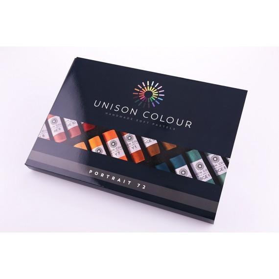 Boite pastel tendre UNISON - 72 Pastels - Portrait (Carton)