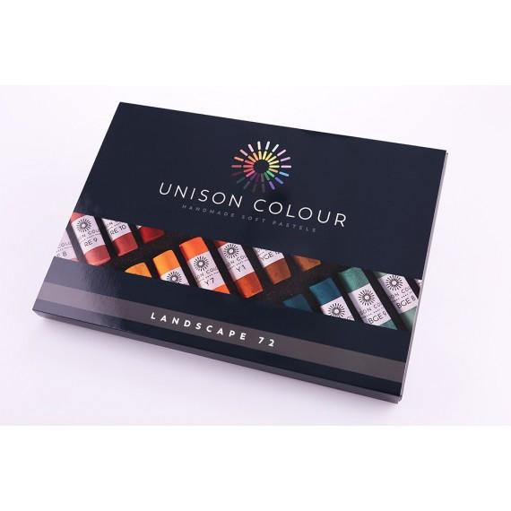 Boite pastel tendre UNISON - 72 Pastels - Landscape (Carton)