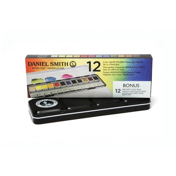 Boite aquarelle DANIEL SMITH Classique - Extra-fine - 12 1/2 godets - Métal