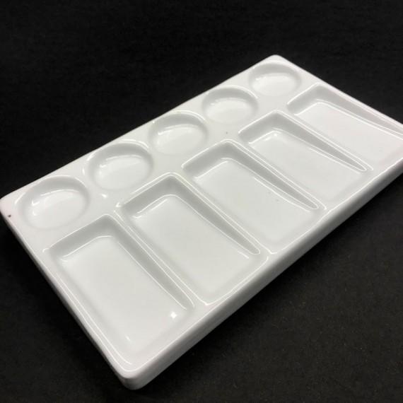 Palette porcelaine OZ - Rectangulaire - 10 Alvéoles - F:18 x 9 cm