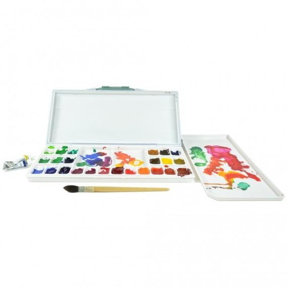 Palette plastique OZ Hermétique - D: 31 x 14.5 x 2.5 cm - 24 Cases