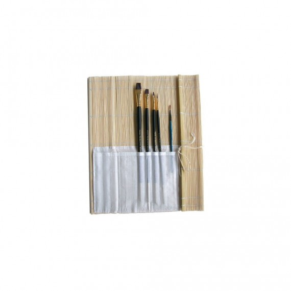 Natte bambou OZ - Avec poche pour pinceaux - F:30 x 30 cm