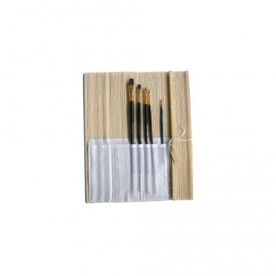Natte bambou OZ - Avec poche pour pinceaux - F:36 x 36 cm