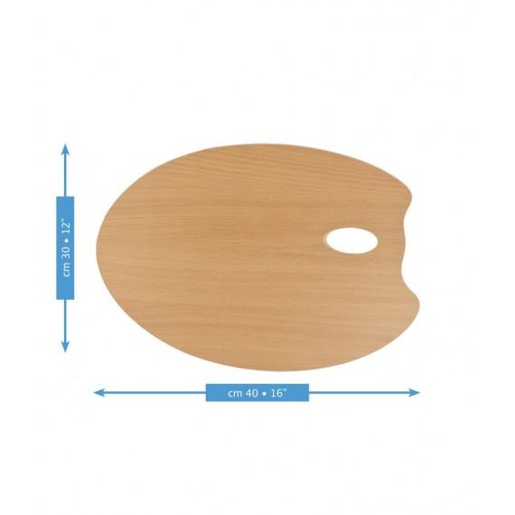 Palette ovale MABEF  - F: 30 x 40 cm - (Hêtre huilé)