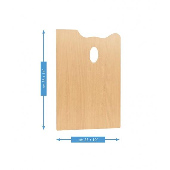 Palette rectangulaire MABEF  - F: 25 x 35 cm - (Hêtre huilé)