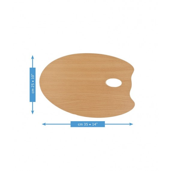 Palette ovale MABEF  - F: 25 x 35 cm - (Hêtre huilé)