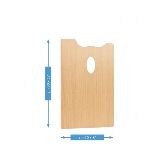 Palette rectangulaire MABEF  - F: 20 x 30 cm - (Hêtre huilé)
