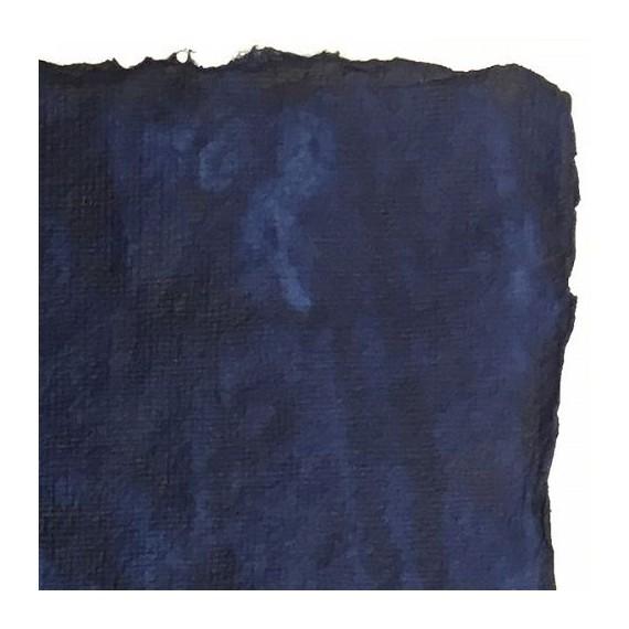 Papier du monde LAMA LI - 150g - F:56 x 76 cm - Fibre naturelle de coton/lin - Indigo
