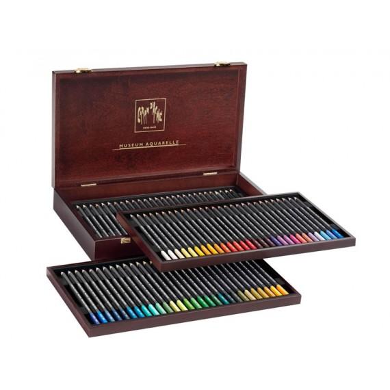 Coffret crayons de couleurs CARAN D'ACHE Museum - 76 Crayons aquarelle assortis - 3510.476