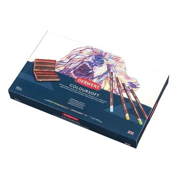 Coffret crayons de couleurs DERWENT Coloursoft - 72 crayons - (Bois)