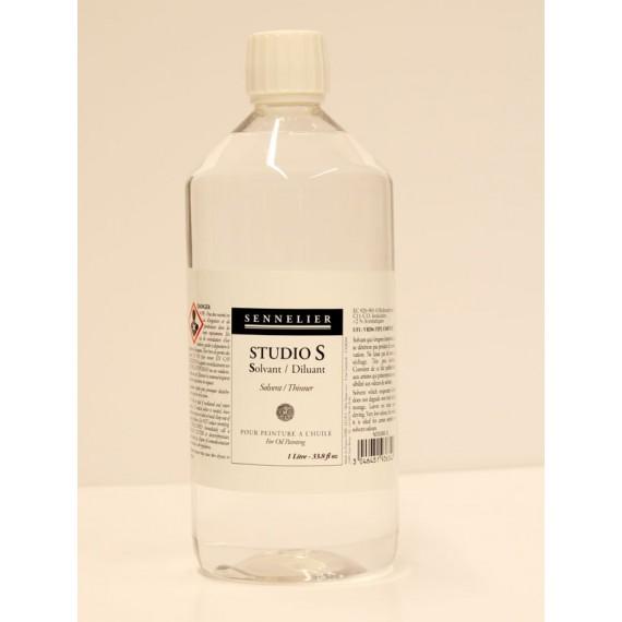 Diluant Studio S (sans odeur -2% d'aromatique) - SENNELIER -  Flacon:1 litre - Net - D.A.M