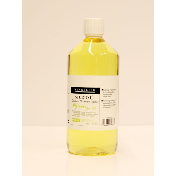 Nettoyant Studio C ( Green for oil) - SENNELIER -  Flacon:1 litre - D.A.M - Net