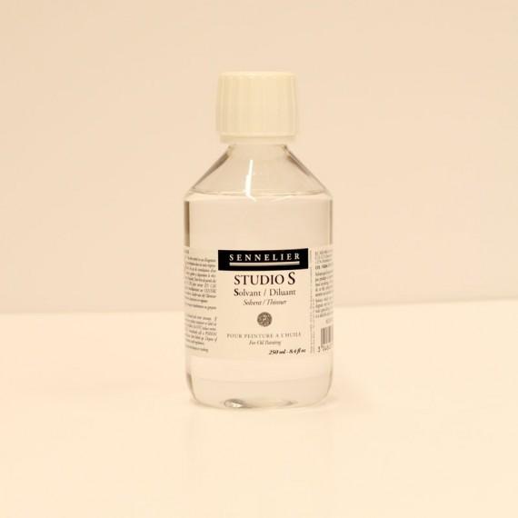 Diluant Studio S (sans odeur -2% d'aromatique) - SENNELIER -  Flacon: 250 ml- D.A.M
