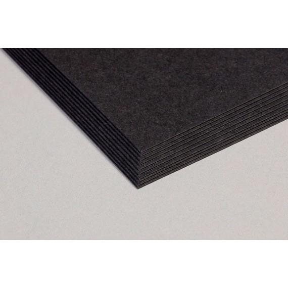 Carton CLAIREFONTAINE - Carton noir - 1.0 mm - F:45 x 64 cm - 540gr - Noir