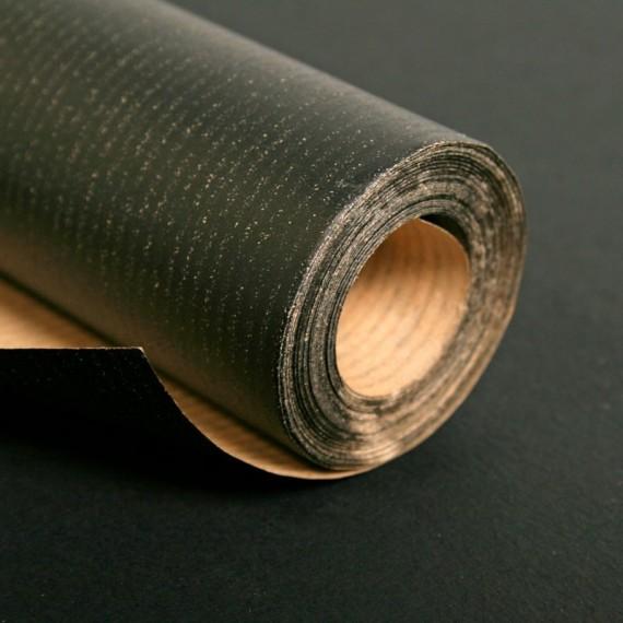Rouleau papier Kraft CLAIREFONTAINE - 60gr - 1 X 10 mètres - Noir (1 face )