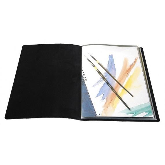 Album PRAT Slim pampa - 12 pochettes cristal laser - Format: 21 x 30 cm