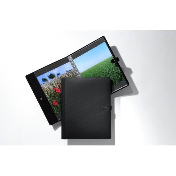 BOOK SPIRALE MODULABLE PAMPA NOIR FIGURE 2130 cm ET 10 POCHETTES 508